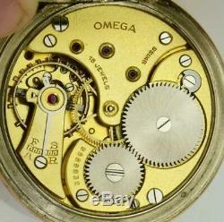 One of a kind Omega gilt silver&enamel Masonic Memento Mori Skull pocket watch