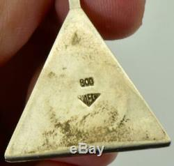 One of a kind antique silver&painted enamel Masonic pyramid pocket/table watch