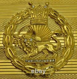One of a kind presentation 196g heavy 14k gold&Diamonds cigarette case. Oriental