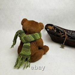 Ooak artist handmade Teddy Bear Bob One-of-a-kind interior toy Collectible gift