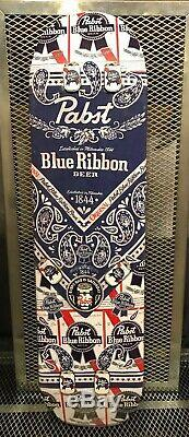 PBR PABST BLUE RIBBON BEER RARE ONE OF A KIND Skate Deck Board Advertising Sign