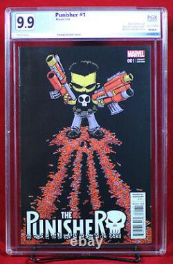 PUNISHER #1 PGX 9.9 MINT Skottie Young Variant One of a kind Stunning +CGC
