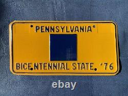 Pennsylvania Bicentennial State License Plate One Of A Kind Reversed Colors