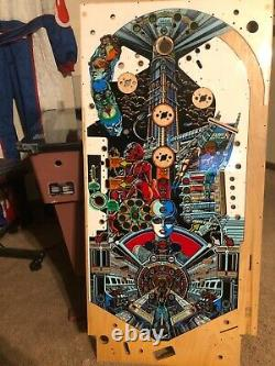 Prototype BALLY Xenon Pinball Playfield. Never Used old stock (One of a Kind)