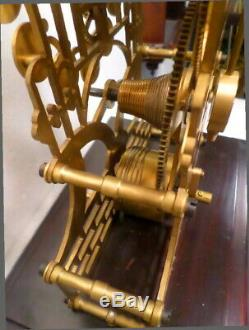 RARE Animated Windmill Fusee Skeleton Clock-One of a Kind