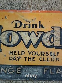 RARE Howdy Beverage Sign. HARD TO FIND ONE OF A KIND