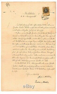 RARE! RARE! One-Of-A-Kind Gustav Mahler Autographed Document Music Composer