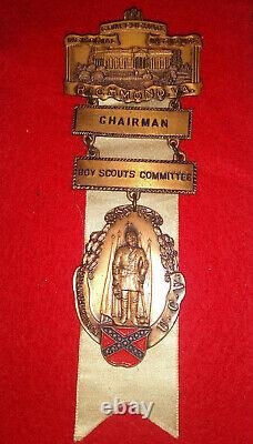 RARE United Confederate Veterans 42nd UCV Reunion Chairmans Medal One Of A Kind