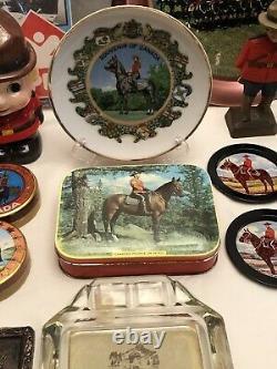 RCMP Vintage Memorbilia 33+ Items RARE Collection Unique One-A-Kind Souvenirs