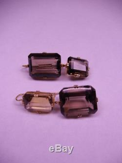 RENEE LEWIS 18K Y. G. Antique Smokey Quartz One-of-a-Kind Special Collection