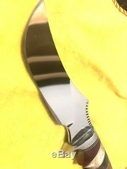 RUFFIN JOHNSON Custom Made Fixed Blade Knife ONE OF A KIND NEVER USED