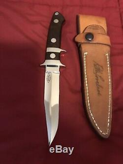 R. W. LOVELESS CUSTOM 40th. ANN. SUB HILT BOOT KNIFE FIGHTER ONE-OF-A-KIND-RARE