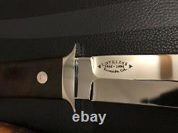 R. W. Loveless Custom Wilderness Fighter Knife 40 Th. Ann. Sheath-one-of-a-kind