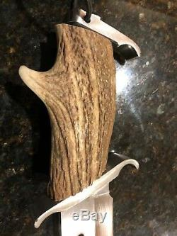 Rambo knife one-of-a-kind with deer antler
