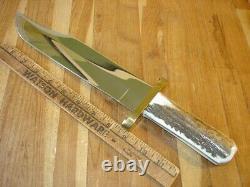 Rare Custom Buck 903 Bowie Knife One Of A Kind Nra Charlton Heston Gold Etch