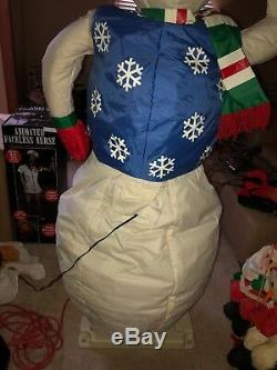 Rare Htf Lifesize Gemmy Snowman 6 Ft Tall Sold Out One Of A Kind Christmas