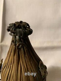 Rare Victorian Beehive Casket Perfume scent bottle FRANCE One Of A Kind
