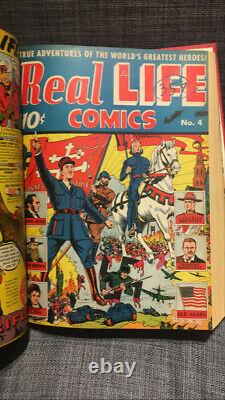 Real Life Comics Bound Volume #1-15 GOLDEN AGE TREASURE ONE OF A KIND