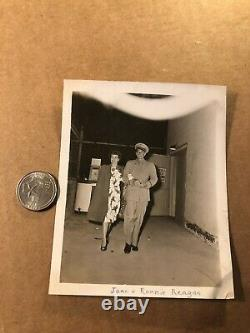 Ronald Reagan Rare One of a Kind Candid Photo WWII withWife Jane Wyman 40s