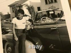 Ronald Reagan Rare One of a Kind Candid Photo With His Car Early 1940s