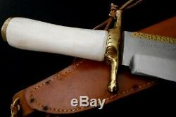 Ruana 38C'M' Elk Handle Bowie -Rare ONE-OF-A-KIND Knife'Death to All Yanks