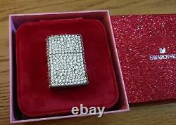 STUNNING LUXURY BLING SWAROVSKI FULLY WRAPPED ZIPPO, One of a Kind, circa 2013