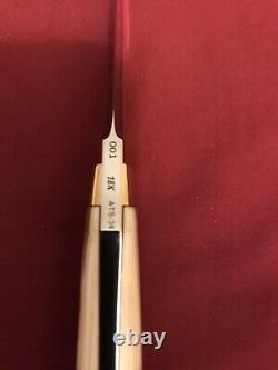 S. R. Johnson Custom Knife-18. K Gold-walrus- One-of-a-kind-loveless Partner