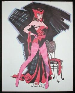 Scarlet Witch Original Art Steve Rude Commission Marvel One Of A Kind