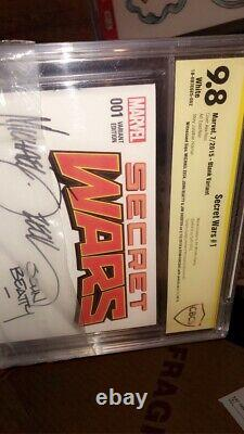 Secret Wars #1 Not CGC 9.8 4x Signed 1x Sketch/ Art One Of A Kind! Michael Zeck