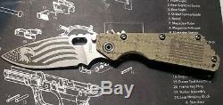 Strider SMF Custom Engraved Knife G10 Titanium S30V One of a Kind