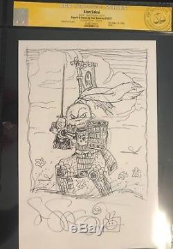 TMNT CGC Signature Series Stan Sakai sketch of Usagi Yojimbo one of a kind art