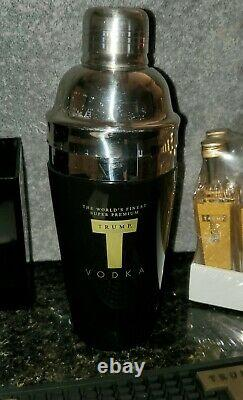 The Only Rare One Of A Kind Matching! Trump Vodka Bar Set Collection