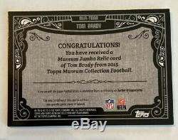 Tom Brady Non Auto Topps Museum Collection 2015 Jersey Rare Brady One Of A Kind