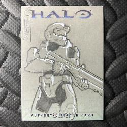 Topps Halo 2007 Master Chief Fabbri Sketch Card One-of-a-kind Art Microsoft Xbox