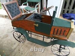 Unique Handmade One Of A Kind1920's Vintage Pedal Car Fiat Roadstar $7750 O. N. O