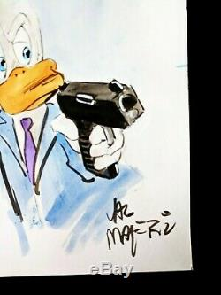 VAL MAYERIK Signed HOWARD THE DUCK Hand Painted ORIGINAL Comic Art One of a kind