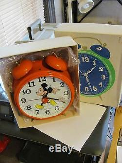 VINTAGE ONE OF A KIND alarm clock Mickey Mouse 11 inch windup RARE