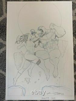 Venom Space Knight #7 Cover Page Original Artwork Signed One of a Kind