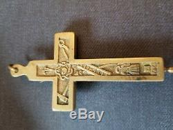 Very old, one of a kind, antique religious crucifix