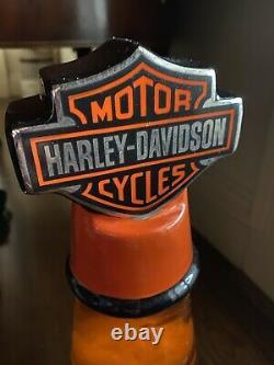 Vintage 2000 Harley Davidson ORANGE OIL One Of A Kind Lava Lamp