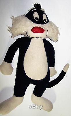 Vintage 34 Looney Tunes Sylvester the Cat Plush One Of A Kind