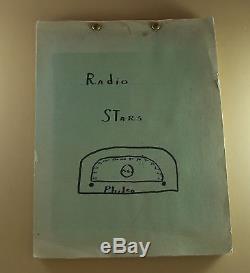 Vintage Antique RADIO STARS SCRAPBOOK Philco 1940s RARE Handmade One of a Kind