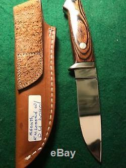 Vintage Custom One Of A Kind Loveless Knife Tak Fukuta 12k Gold Seki Japan 1 Off