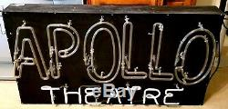 Vintage NEON SIGN APOLLO THEATRE Antique RARE! ORIGINAL ONE-OF-A-KIND Theater