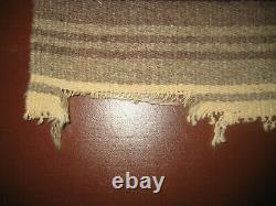 Vintage Native American woven wool blanket 51 x 89 one of a kind