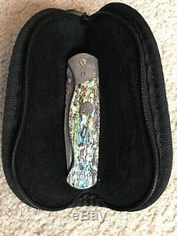 Vintage One of a Kind Hand Made Vallotton Abalone D/A made famous by Microtech