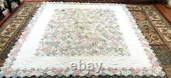 Vintage One of a Kind King Size 92x102 Handmade Patchwork Quilt