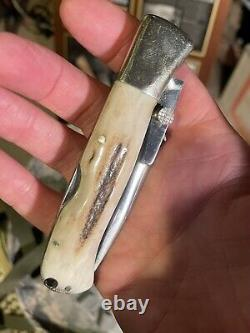 Vintage Pocket Knife-blackjack Folding Mamba Customized Lefty. One Of A Kind