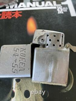 Vintage Zippo Lot 2 Korea Engraved Personalized RARE Look! One Of A Kind Bundle