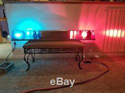 Vintage police light bar twinsonic/really quiet/ clear lenses one of a kind